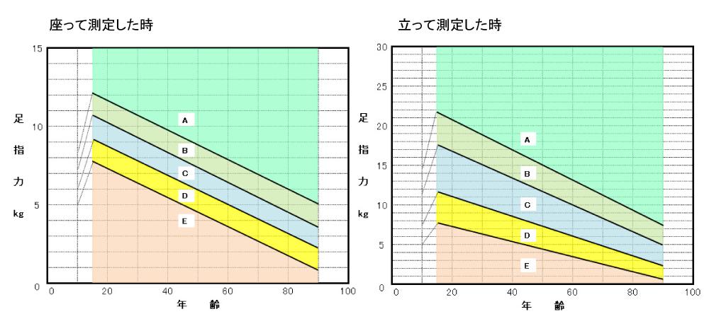 足指力計ふんばるくん測定結果シート(女性)